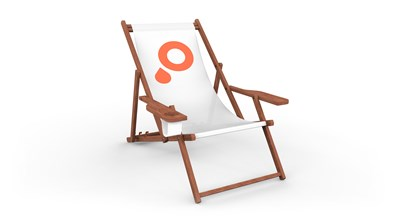 Deckchairs with wood brown