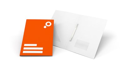 Presentation folders without flaps, without window