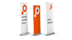 Product picture roller banners