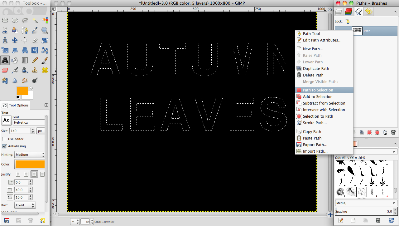Tutorial: Create a leaves text effect in GIMP » SAXOPRINT Blog UK