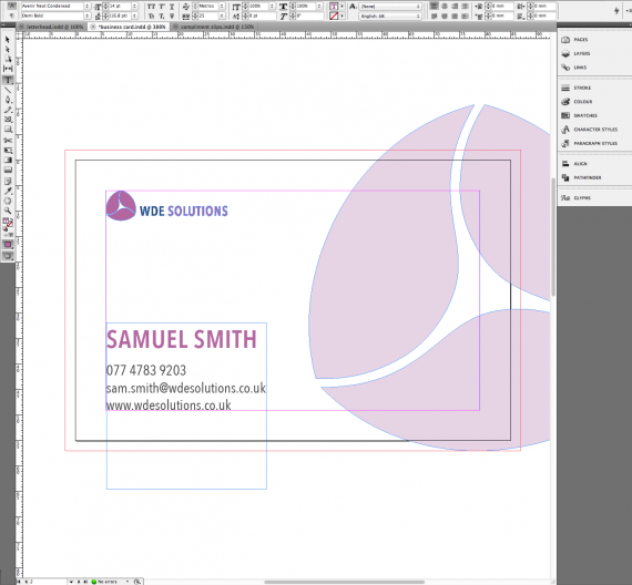 Business Stationery with Pantone Colour (04)