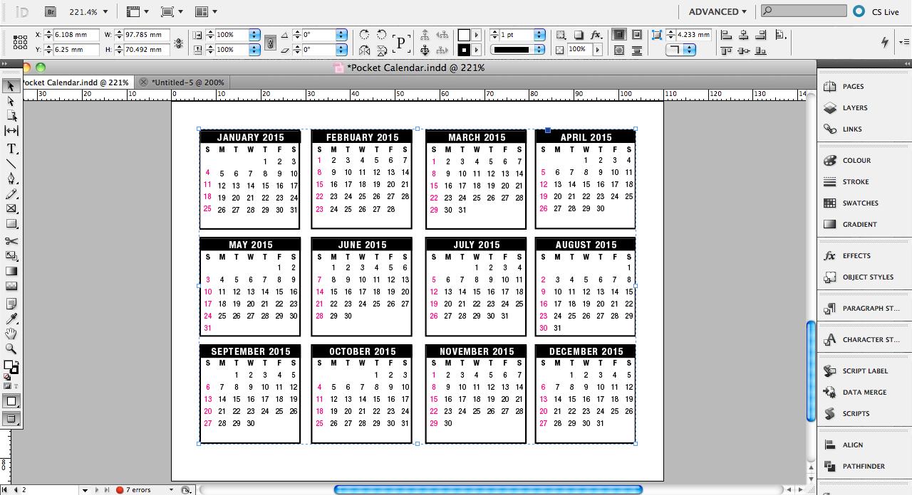 Pocket Calendar Design : Tutorial pocket calendar design saxoprint uk