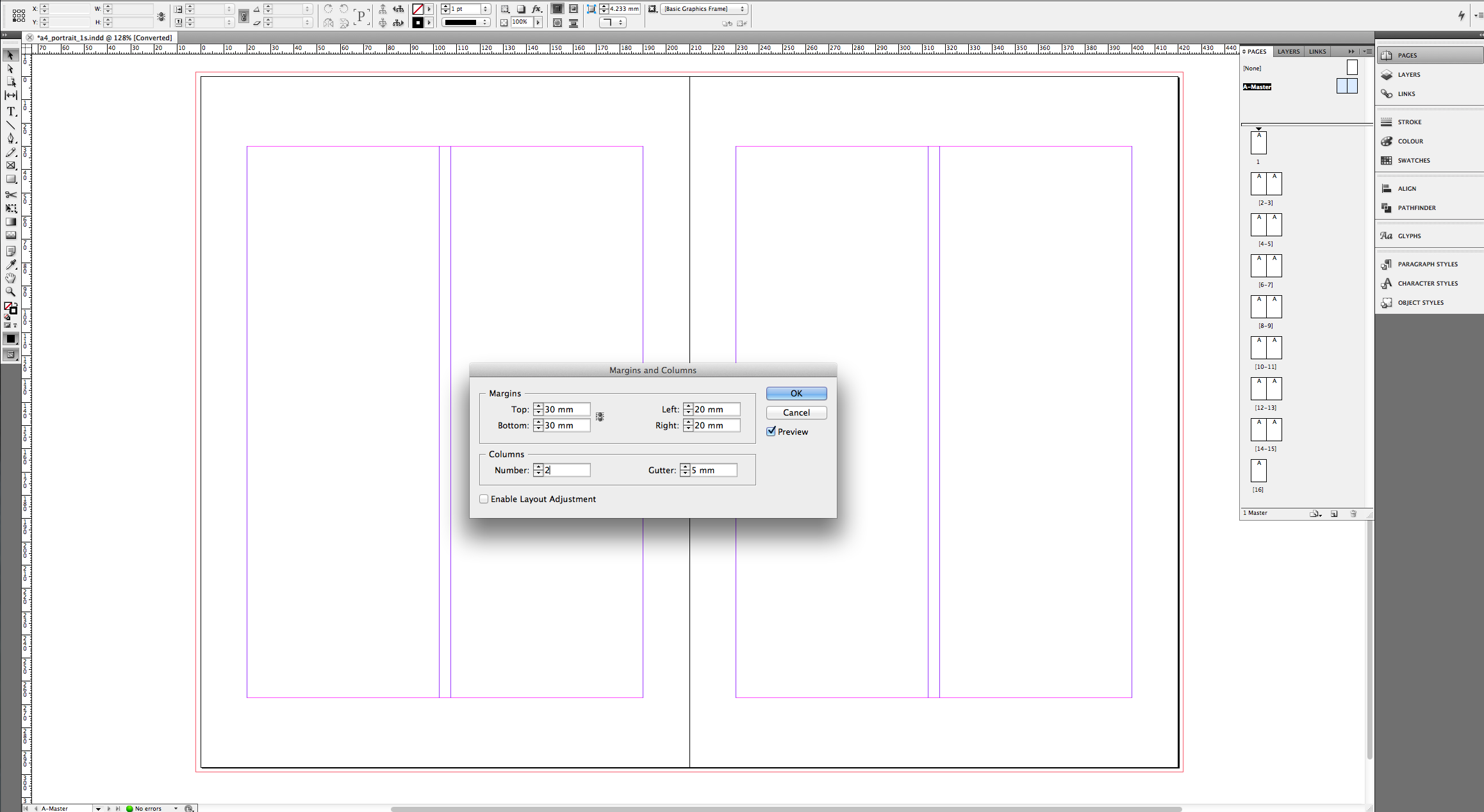 tutorial – create an a4 brochure in indesign » saxoprint blog uk, Powerpoint templates