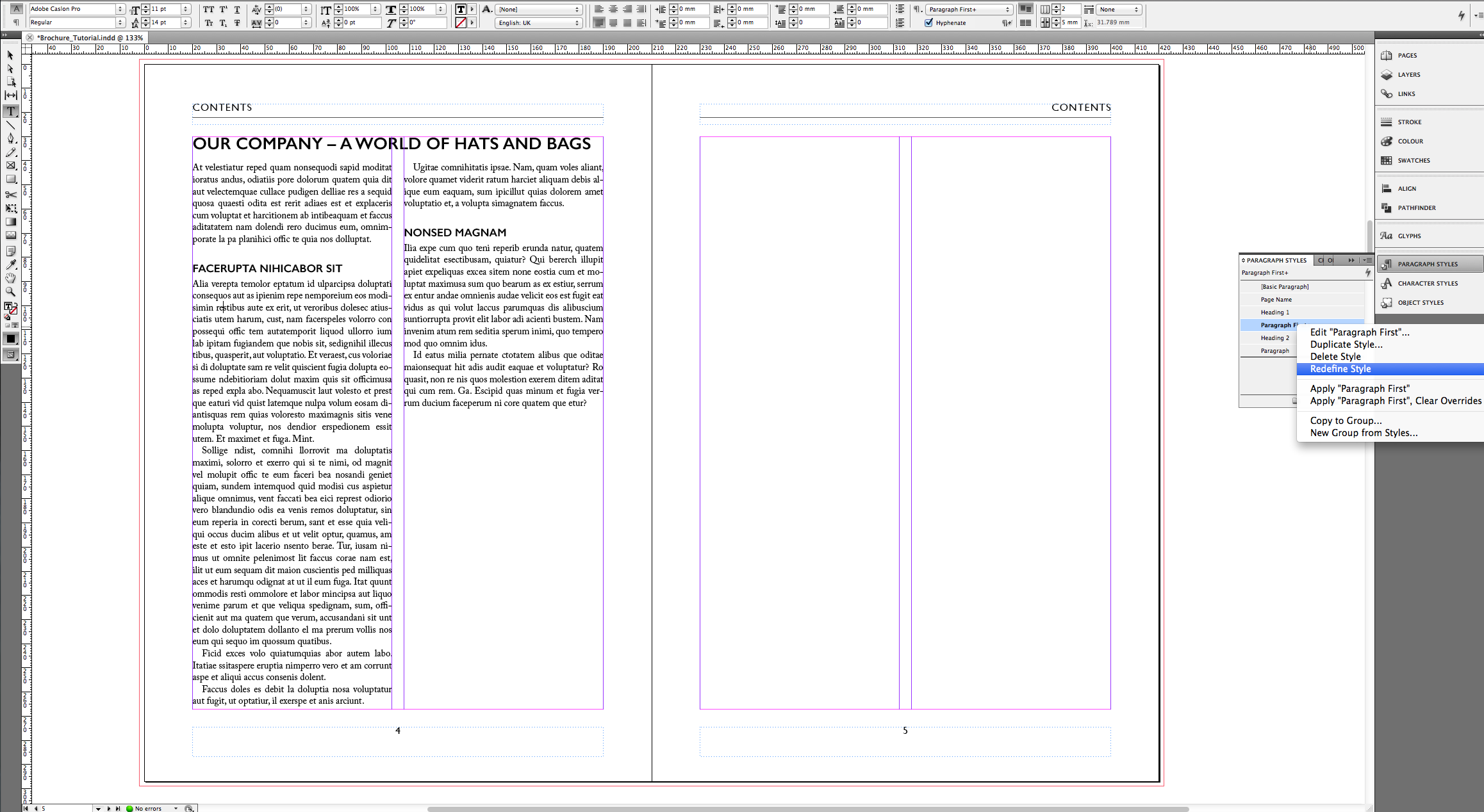 Tutorial – Create an A4 brochure in InDesign » SAXOPRINT Blog UK