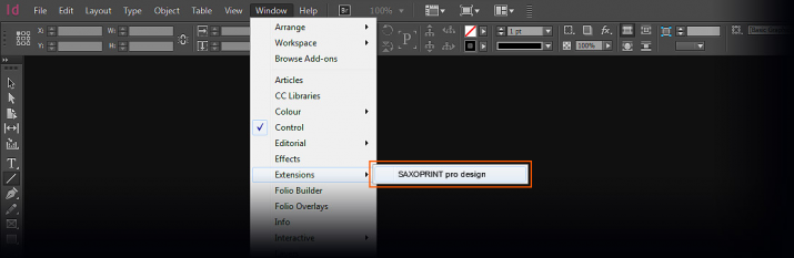 Launch of SAXOPRINT pro design in Adobe InDesign