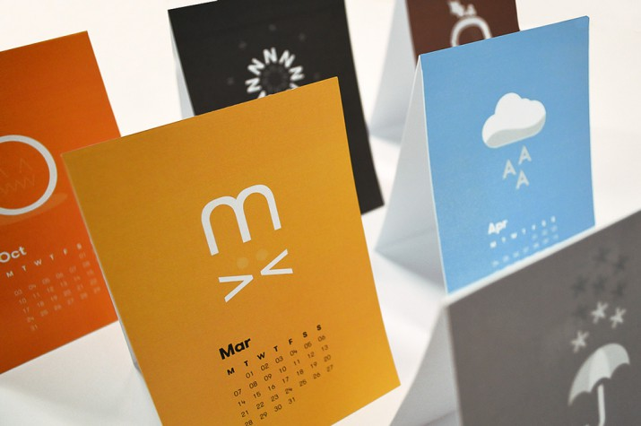 Best Calendar Design : Awesome calendar design for saxoprint uk