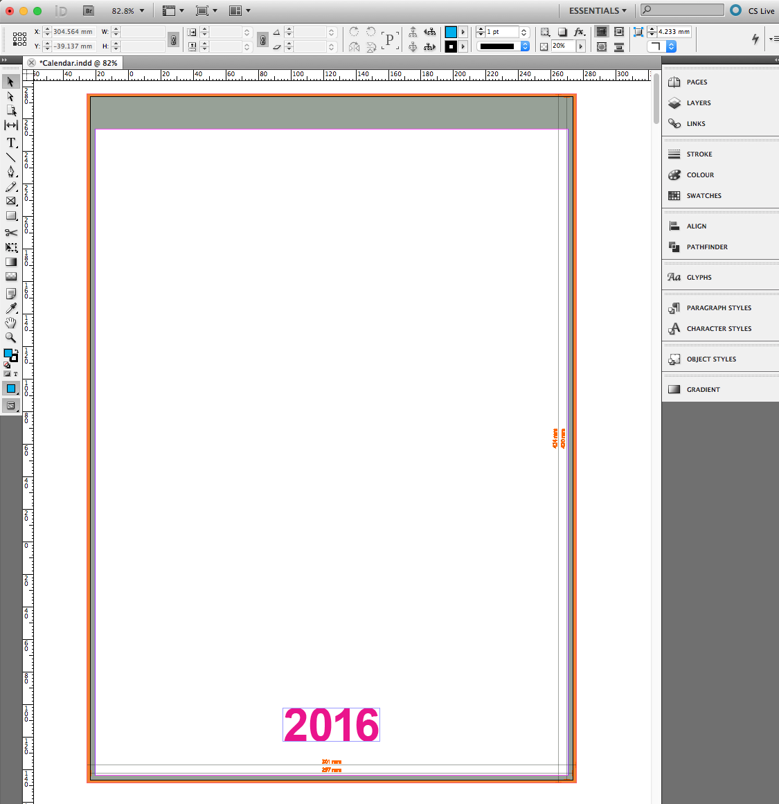 Corporate calendar in InDesign (incl. template) » SAXOPRINT
