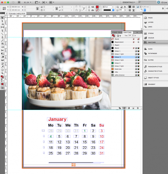 how to create an x head in indesign