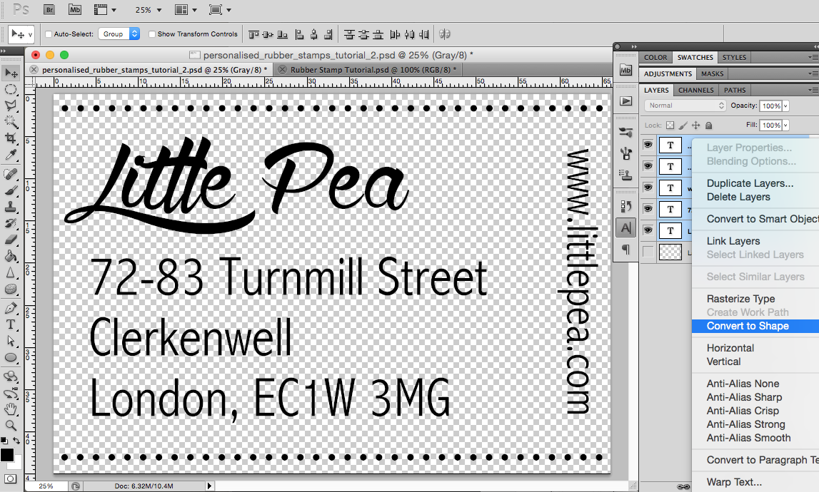 Create Personalised Rubber Stamps In Photoshop
