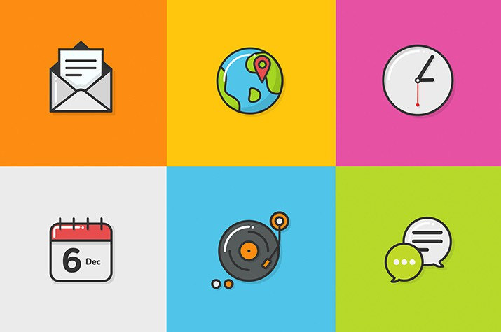 35 icon collections for your design projects » SAXOPRINT