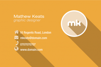 Material Design Print Business Card Back