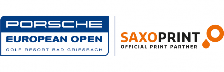 Porsche European Open – SAXOPRINT's first time at the golf course (Logo)