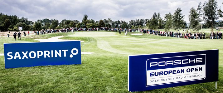 Porsche European Open – SAXOPRINT's first time at the golf course