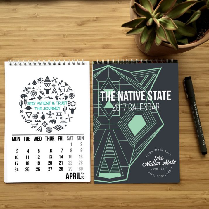 Creative calendar designs for 2017 (15)