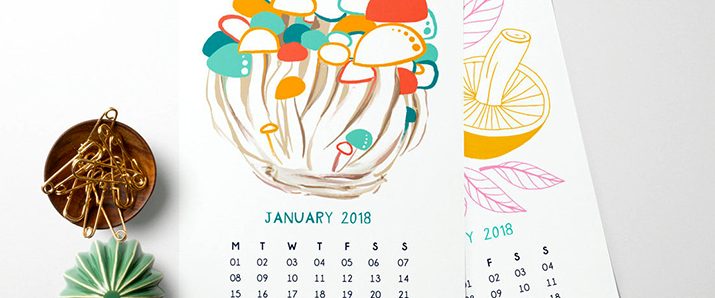 Don't miss these awesome calendar designs for 2018